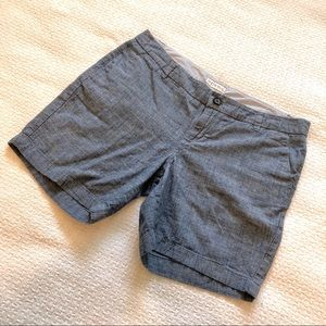 Merona Chambray Shorts, Medium Length, Size 6